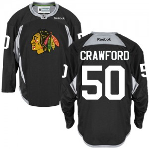 Men's Chicago Blackhawks Corey Crawford Reebok Authentic Practice Jersey - Black