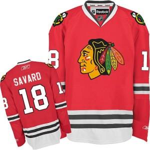 Men's Chicago Blackhawks Denis Savard Reebok Authentic Home Jersey - Red