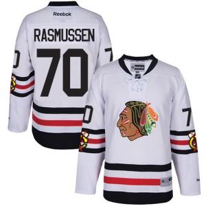 Men's Chicago Blackhawks Dennis Rasmussen Reebok Authentic 2017 Winter Classic Jersey - White