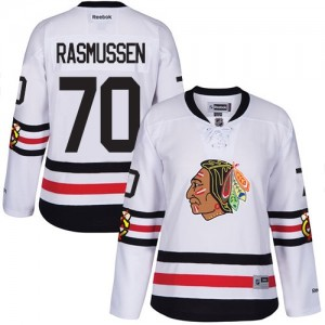 Women's Chicago Blackhawks Dennis Rasmussen Reebok Authentic 2017 Winter Classic Jersey - White