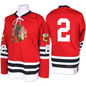 Men's Chicago Blackhawks Duncan Keith Mitchell and Ness Authentic 1960-61 Throwback Jersey - Red