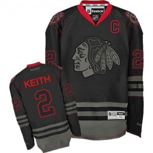 Men's Chicago Blackhawks Duncan Keith Reebok Authentic Jersey - Black Ice