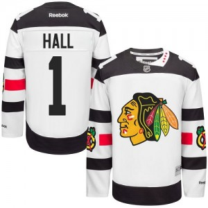 Men's Chicago Blackhawks Glenn Hall Reebok Authentic 2016 Stadium Series Jersey - White