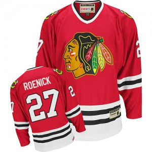 Men's Chicago Blackhawks Jeremy Roenick CCM Authentic Throwback Jersey - Red