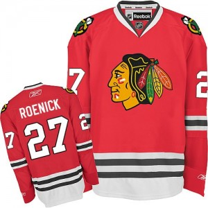 Men's Chicago Blackhawks Jeremy Roenick Reebok Authentic Home Jersey - Red