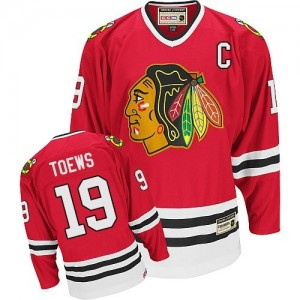 Men's Chicago Blackhawks Jonathan Toews CCM Authentic Throwback Jersey - Red