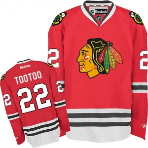 Men's Chicago Blackhawks Jordin Tootoo Reebok Authentic Home Jersey - Red