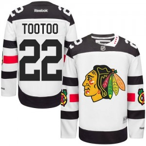 Men's Chicago Blackhawks Jordin Tootoo Reebok Authentic 2016 Stadium Series Jersey - White