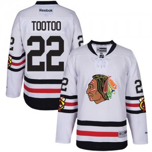 Men's Chicago Blackhawks Jordin Tootoo Reebok Authentic 2017 Winter Classic Jersey - White