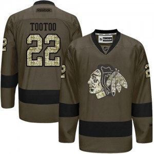 Men's Chicago Blackhawks Jordin Tootoo Reebok Premier Salute to Service Jersey - Green