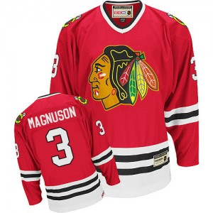 Men's Chicago Blackhawks Keith Magnuson CCM Authentic Throwback Jersey - Red