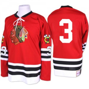 Men's Chicago Blackhawks Keith Magnuson Mitchell and Ness Premier 1960-61 Throwback Jersey - Red