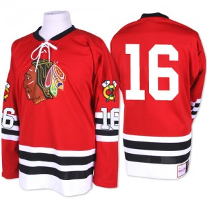 Men's Chicago Blackhawks Marcus Kruger Mitchell and Ness Premier 1960-61 Throwback Jersey - Red