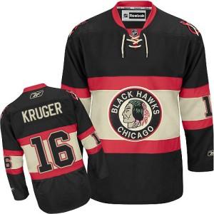 Men's Chicago Blackhawks Marcus Kruger Reebok Authentic New Third Jersey - Black