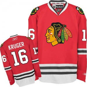 Men's Chicago Blackhawks Marcus Kruger Reebok Authentic Home Jersey - Red
