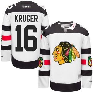 Men's Chicago Blackhawks Marcus Kruger Reebok Authentic 2016 Stadium Series Jersey - White