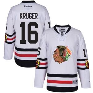Men's Chicago Blackhawks Marcus Kruger Reebok Authentic 2017 Winter Classic Jersey - White