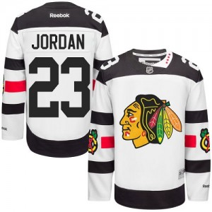 Men's Chicago Blackhawks Michael Jordan Reebok Authentic 2016 Stadium Series Jersey - White