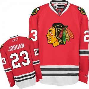 Men's Chicago Blackhawks Michael Jordan Reebok Premier Home Jersey - Red