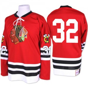 Men's Chicago Blackhawks Michal Rozsival Mitchell and Ness Authentic 1960-61 Throwback Jersey - Red