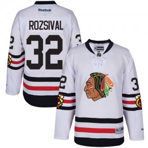Men's Chicago Blackhawks Michal Rozsival Reebok Authentic 2017 Winter Classic Jersey - White