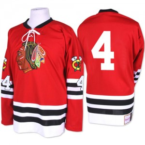 Men's Chicago Blackhawks Niklas Hjalmarsson Mitchell and Ness Authentic 1960-61 Throwback Jersey - Red