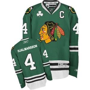 Men's Chicago Blackhawks Niklas Hjalmarsson Reebok Authentic Jersey - Green