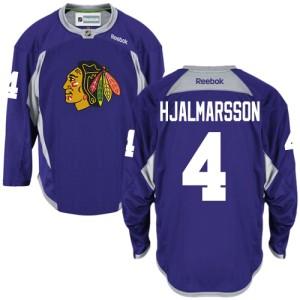 Men's Chicago Blackhawks Niklas Hjalmarsson Reebok Authentic Practice Jersey - Purple
