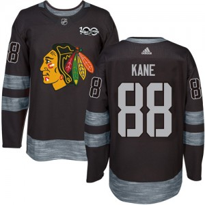 Men's Chicago Blackhawks Patrick Kane Adidas Authentic 1917-2017 100th Anniversary Jersey - Black