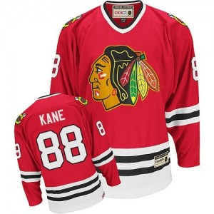 Men's Chicago Blackhawks Patrick Kane CCM Authentic Throwback Jersey - Red