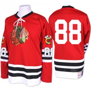 Men's Chicago Blackhawks Patrick Kane Mitchell and Ness Authentic 1960-61 Throwback Jersey - Red
