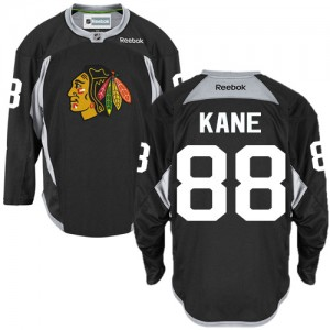 Men's Chicago Blackhawks Patrick Kane Reebok Authentic Practice Jersey - Black