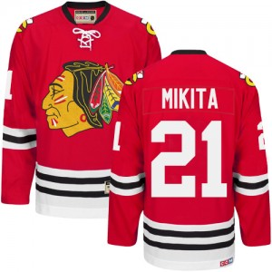 Men's Chicago Blackhawks Stan Mikita CCM Premier New Throwback Jersey - Red