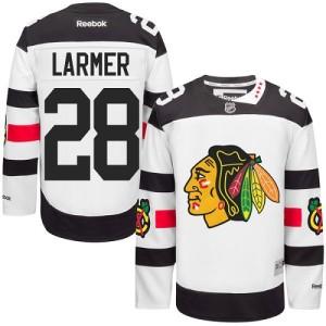Men's Chicago Blackhawks Steve Larmer Reebok Authentic 2016 Stadium Series Jersey - White