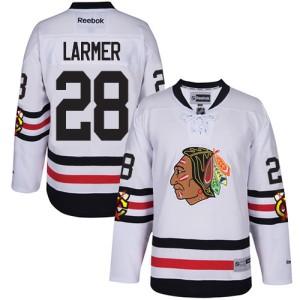 Men's Chicago Blackhawks Steve Larmer Reebok Authentic 2017 Winter Classic Jersey - White