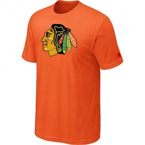 Men's Chicago Blackhawks Big & Tall Logo T-Shirt - - Orange