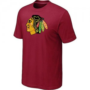 Men's Chicago Blackhawks Big & Tall Logo T-Shirt - - Red