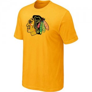 Men's Chicago Blackhawks Big & Tall Logo T-Shirt - - Yellow