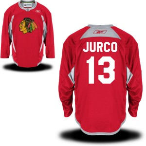 Men's Chicago Blackhawks Tomas Jurco Reebok Replica Practice Team Jersey - - Red
