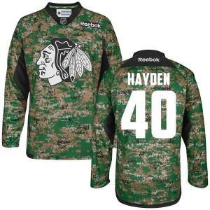 Men's Chicago Blackhawks John Hayden Reebok Replica Digital Veteran's Day Practice Jersey - Camo