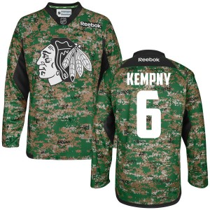Men's Chicago Blackhawks Michal Kempny Reebok Replica Digital Veteran's Day Practice Jersey - Camo