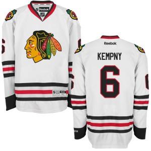 Men's Chicago Blackhawks Michal Kempny Reebok Replica Away Jersey - - White