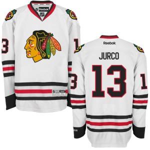 Men's Chicago Blackhawks Tomas Jurco Reebok Replica Away Jersey - - White
