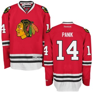 Men's Chicago Blackhawks Richard Panik Reebok Replica Home Jersey - - Red