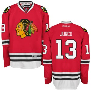 Men's Chicago Blackhawks Tomas Jurco Reebok Replica Home Jersey - - Red
