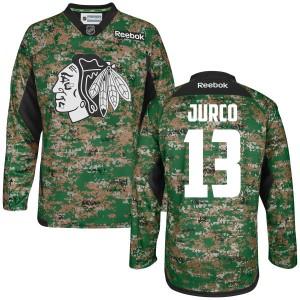 Men's Chicago Blackhawks Tomas Jurco Reebok Premier Digital Veteran's Day Practice Jersey - Camo