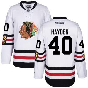 Men's Chicago Blackhawks John Hayden Reebok Premier 2017 Winter Classic Jersey -