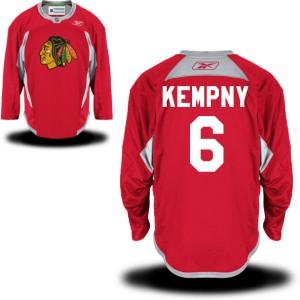 Men's Chicago Blackhawks Michal Kempny Reebok Authentic Practice Team Jersey - - Red