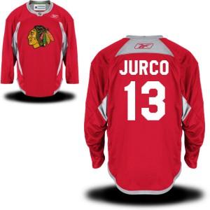 Men's Chicago Blackhawks Tomas Jurco Reebok Authentic Practice Team Jersey - - Red