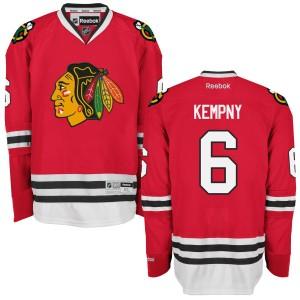 Men's Chicago Blackhawks Michal Kempny Reebok Authentic Home Jersey - - Red